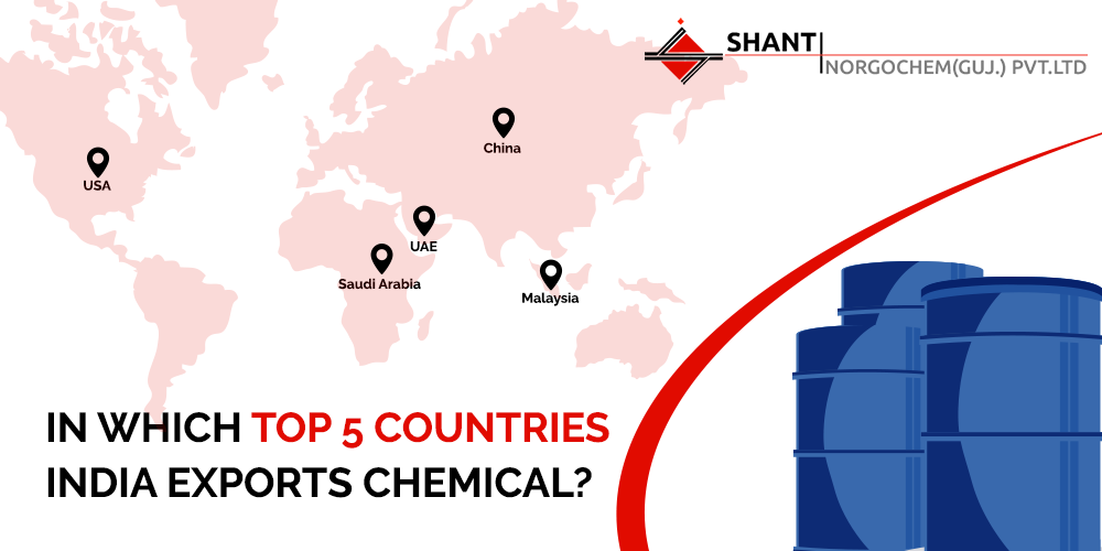 Countries where India Exports Chemicals